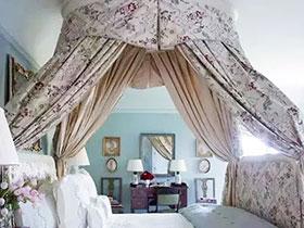 10个唯美卧室床幔装饰图片 浪漫点睛之笔