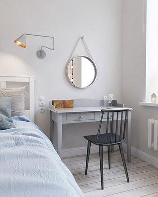 北欧公寓小户型装修卧室书桌图