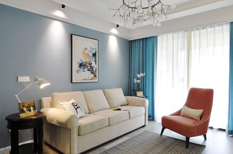 优雅美式客厅沙发背景墙欣赏