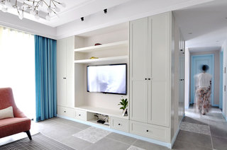 现代简美式家居 整体电视柜设计