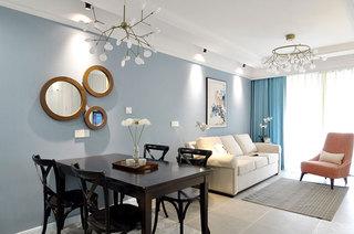 89平美式风格公寓餐厅装潢图