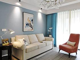 89平美式风格公寓效果图 让生活有滋有味