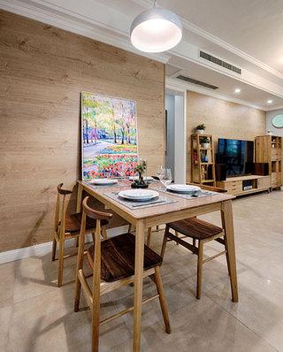 78平北欧风格二居餐厅背景墙设计图