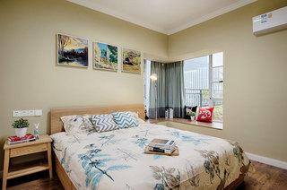 简约宜家风 卧室照片墙效果图