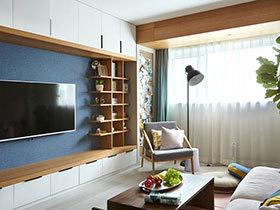日式北欧混搭风格公寓装修图 原木清新