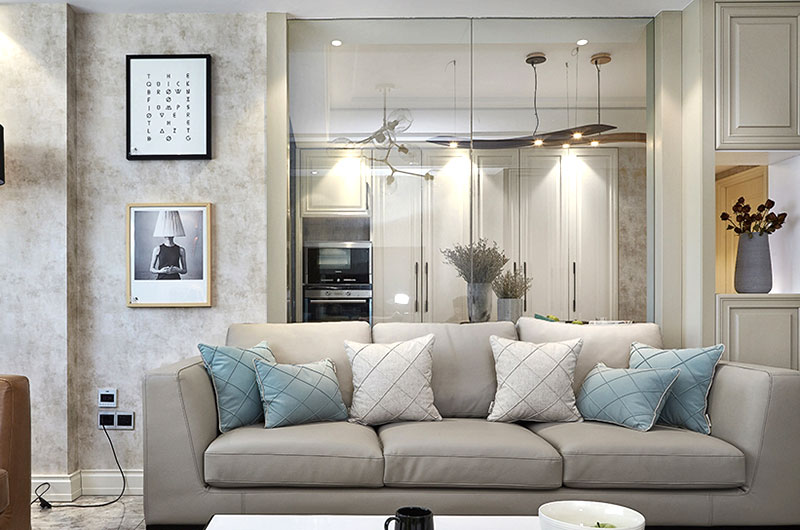 优雅简美式布艺沙发效果图