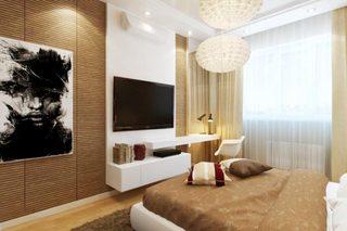 现代风卧室装修装饰效果图
