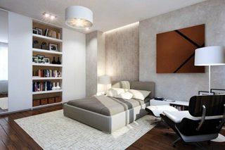 现代风卧室设计实景图