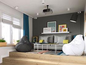32平一居室小户型装修图 紧凑运用空间