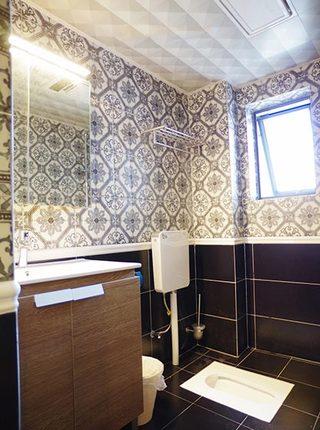 90㎡现代简约三房卫生间图片