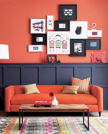 温馨客厅照片墙装修图片