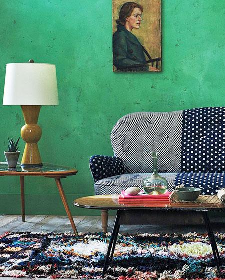 温馨客厅地毯装饰图