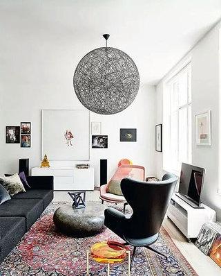 客厅茶几地毯设计图片