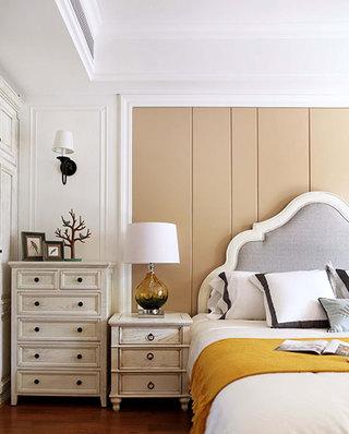 170平美式风格四房床头软包设计