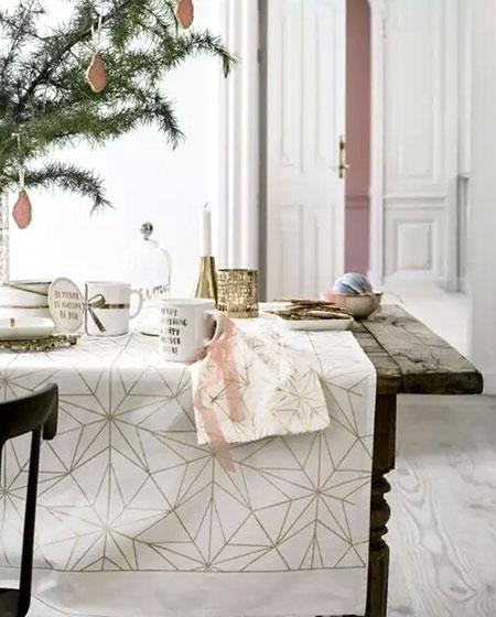 清新餐厅桌布椅套图片