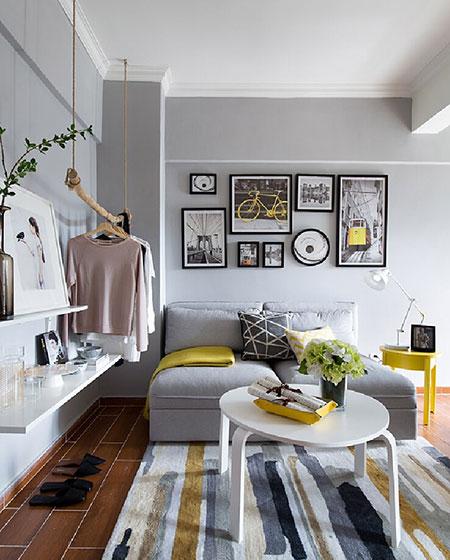 精美复古北欧风 客厅沙发照片墙设计