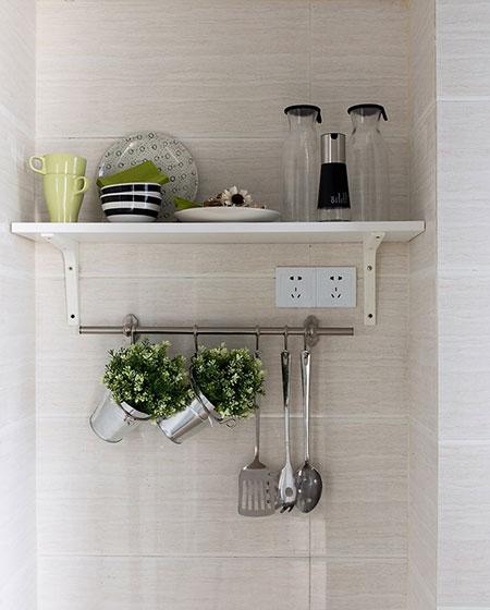 简约宜家风 厨房置物架设计