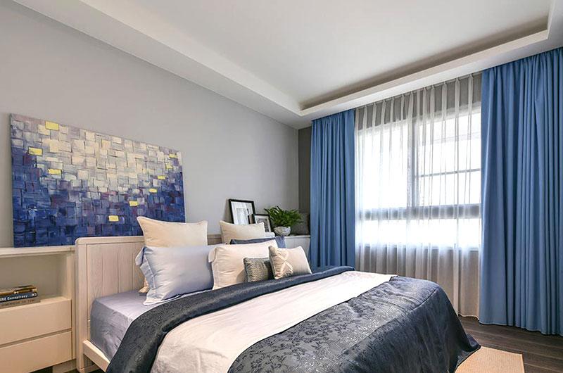 160平简约风格三居卧室效果图设计