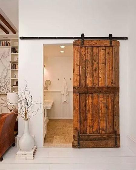 卫生间木质谷仓门效果图