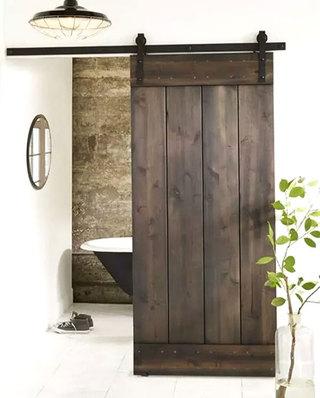 卫生间装修复古木质谷仓门