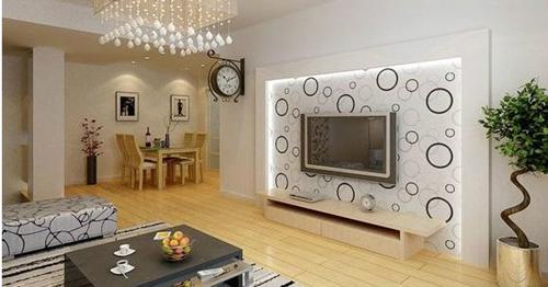 6,家具,背景采用这两种做电视墙图片白色,给金属很强的现代感材料深色衣柜玻璃人们图片