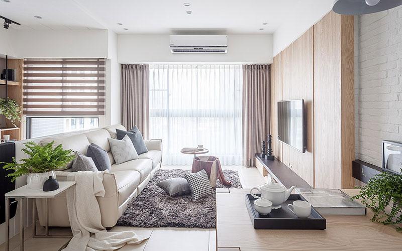 115平北欧风格二居客厅装修效果图