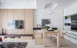 115平北欧风格二居餐厅装潢图