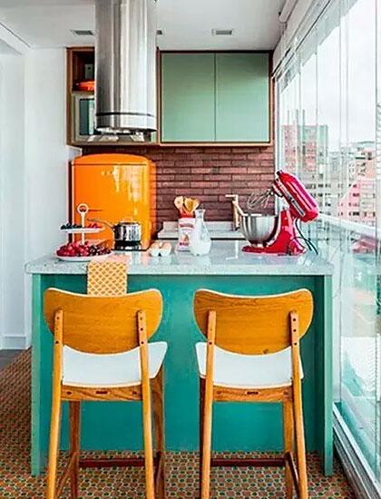 小户型厨房装修橱柜的设计图
