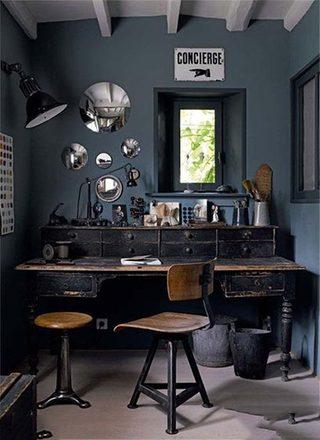 办公桌收纳装修装饰效果图