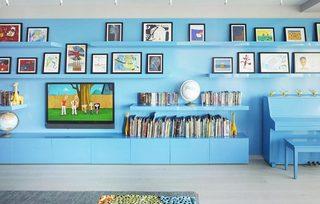 收纳型电视背景墙装修效果图