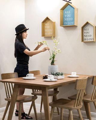 90平北欧风格公寓餐厅背景墙设计