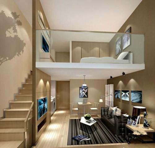 2米.使用面积比销售面积多2倍. loft公寓特点:1,空间开敞,复式结构.图片