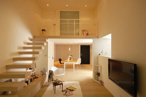 楼中楼版小户型装修效果图 现代简约之风