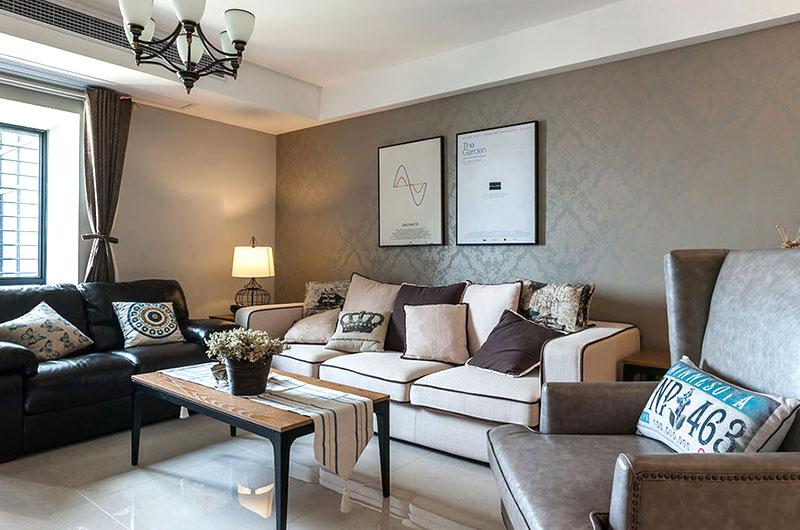 105平混搭风格二居室装修效果图