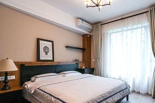 110平混搭三室两厅卧室窗帘图片