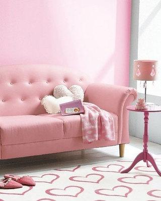 时尚粉色新款客厅沙发