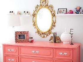 开心小粉红  10个粉色梳妆台布置图