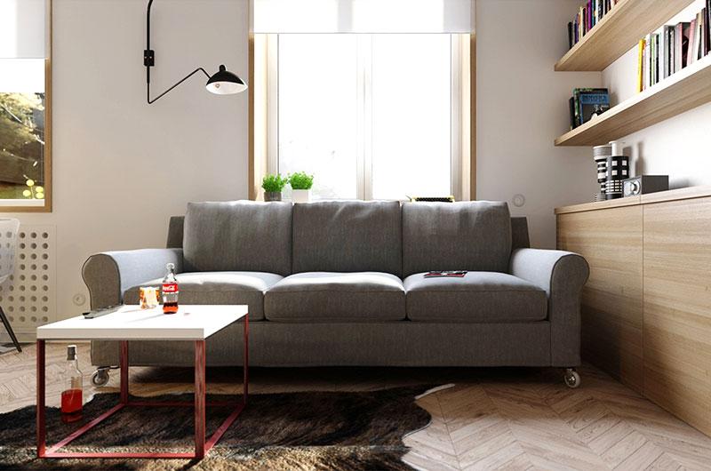 简约风客厅布艺沙发设计