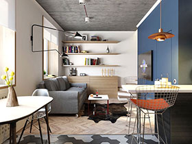 60平北欧风格小两居装修 小空间的大魅力