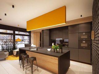 黑色厨房色彩配欣赏图