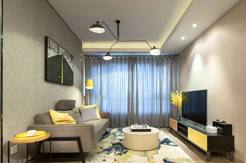 79平样板房装修客厅设计图