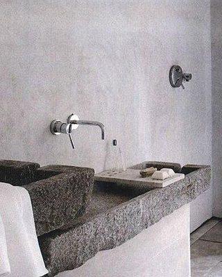 卫生间洗手台布置实景图
