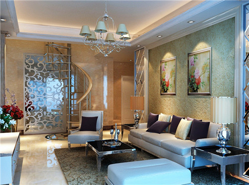 小户型复式楼装修效果图:客厅
