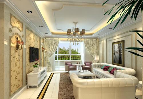 家装必看:欧式客厅装修效果图欣赏【宝鸡装饰半包口碑好】