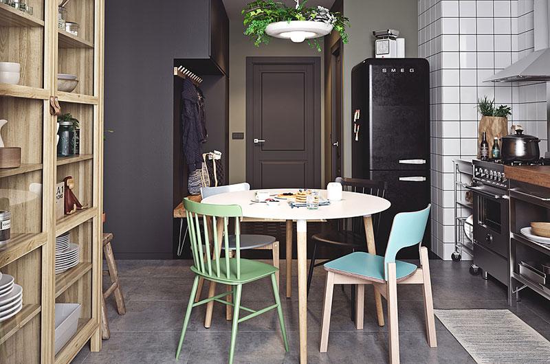 小户型单身公寓餐厨一体装修