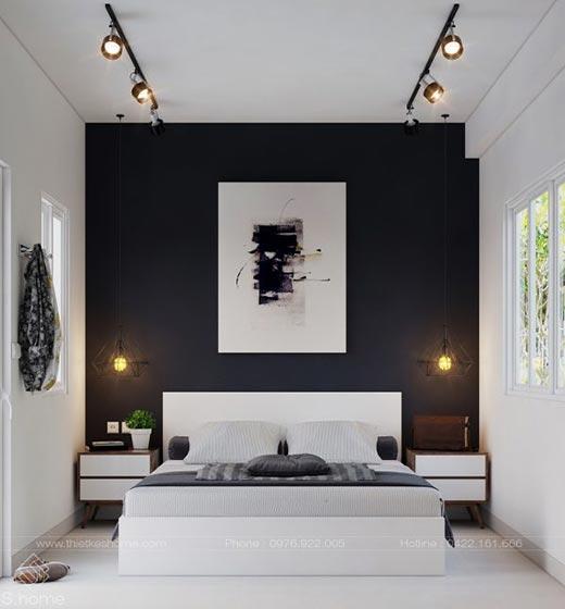 黑白色卧室装修装饰效果图