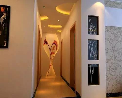 客厅过道吊顶效果图 超美的过道设计高清图片