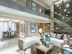 奢华古典新中式混搭 高端复式样板房