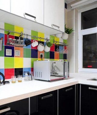 厨房背景墙装修装饰效果图