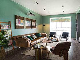清新北欧风混搭 四居公寓装潢